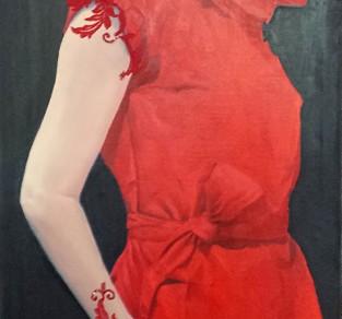 La mujer de rojo (313x800)